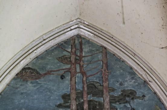 domaine des trois colonnes, détail fresque chambre