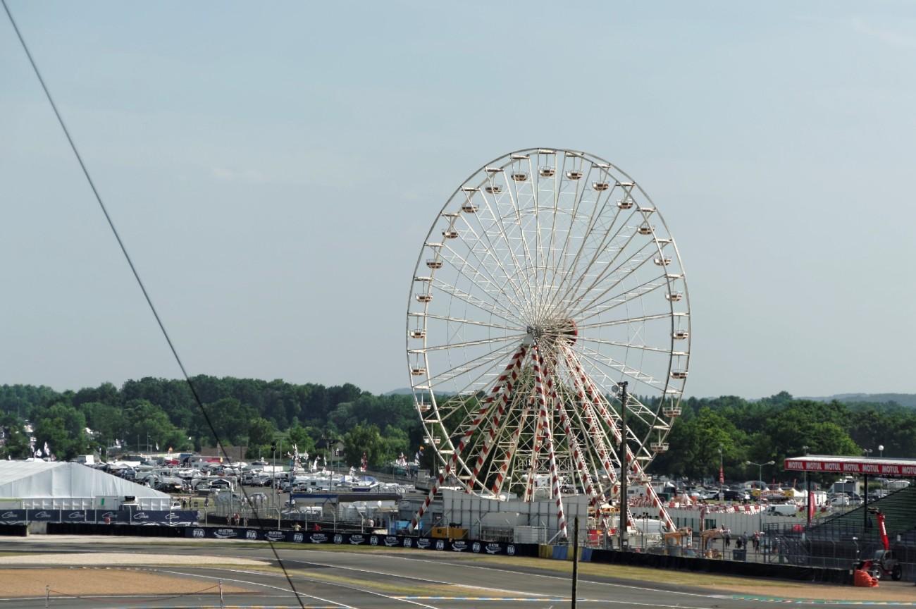 la grande roue des 24 h du  mans, 24 heures du Mans, courses automobiles, circuit 24 heures du Mans,
