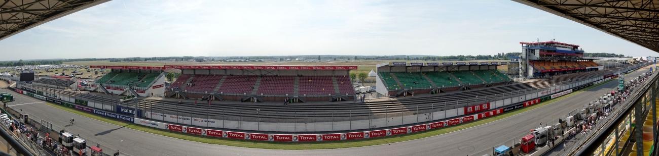 pano tribunes 24 h du  mans, 24 heures du Mans, courses automobiles, circuit 24 heures du Mans,