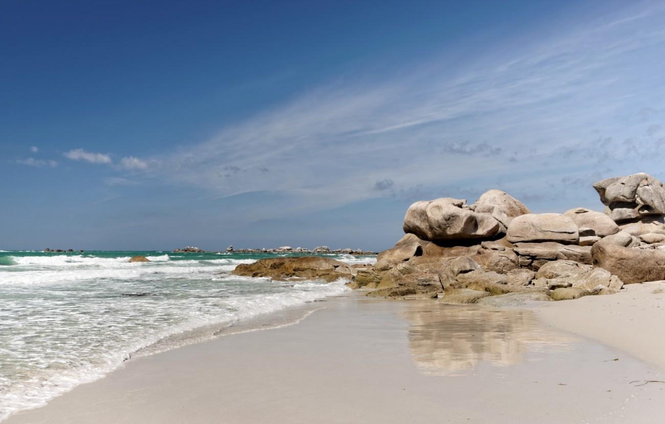 plage, Kerlouan, rochers, plage de Kerlouan, marée descendante