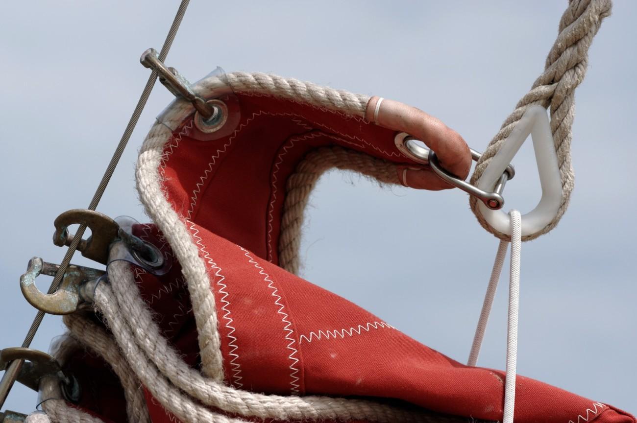 voile, gréement; bateau, rouge, bretagne,finistère,