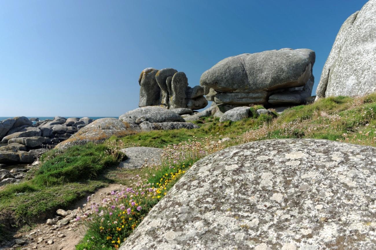 plage, rochers,sable, Neiz Vran, Enez Amann Ar Rouz, Kerlouan, ile aux vaches