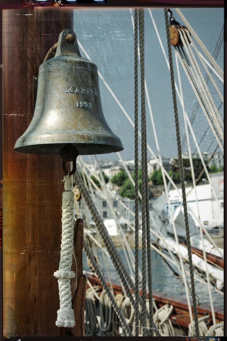 cloche du Marité, Marité, voilier 3 mâts, terre-neuvier, morutier, Brest, finistère, bretagne