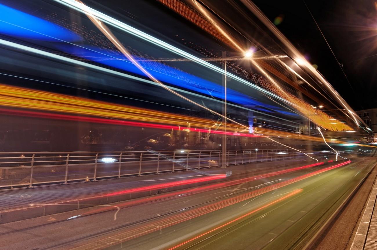 filé tramway bibus pont de Recouvrance Brest