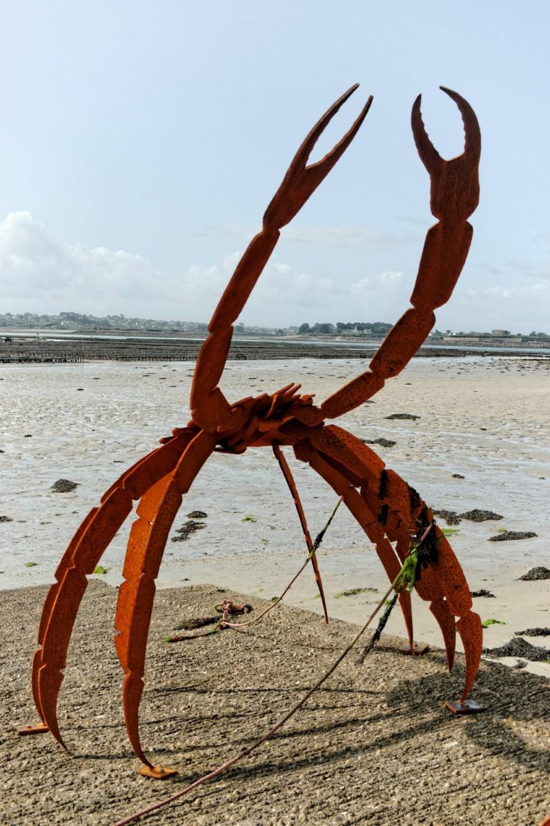 l'île Wrac'h, Lilia, Plouguerneau, finistère, bretagne, Jérome Durant, crabes métal