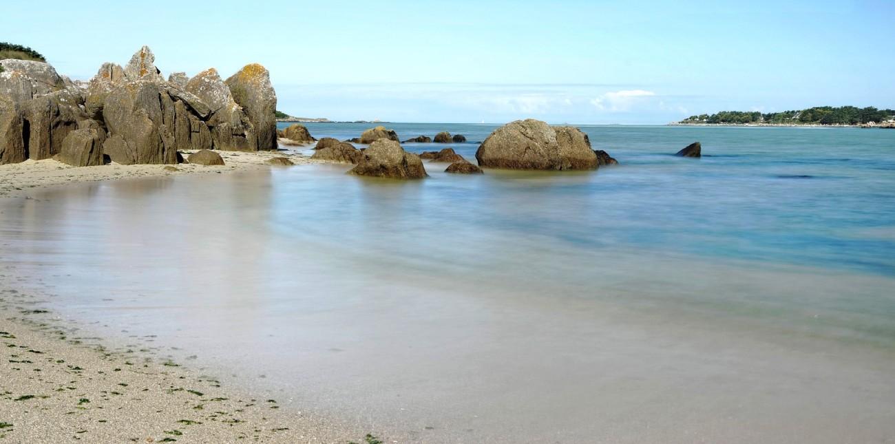 pose longue, plage Guissény, baie de Guissény, Guissény, finistère, bretagne
