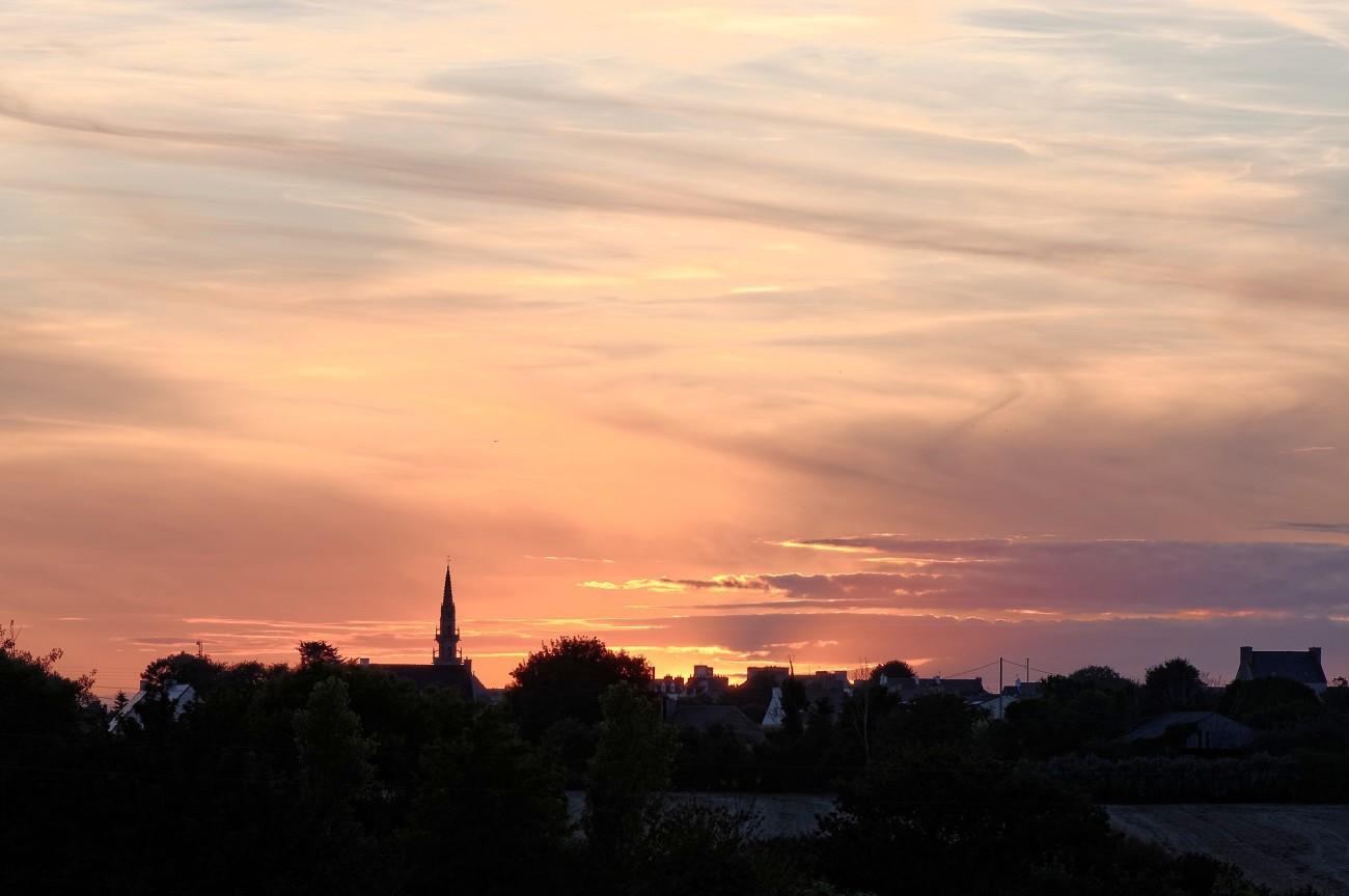 soleil couchant sur Guissény
