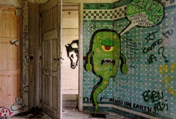 graffitis domaine des 3 Colonnes