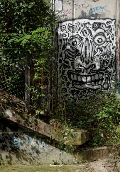 graffitis Nosbé - usine à Gaz