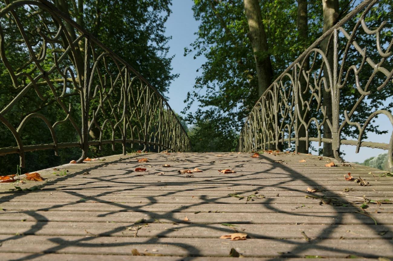 pont, reflets, domaine de Chamarande