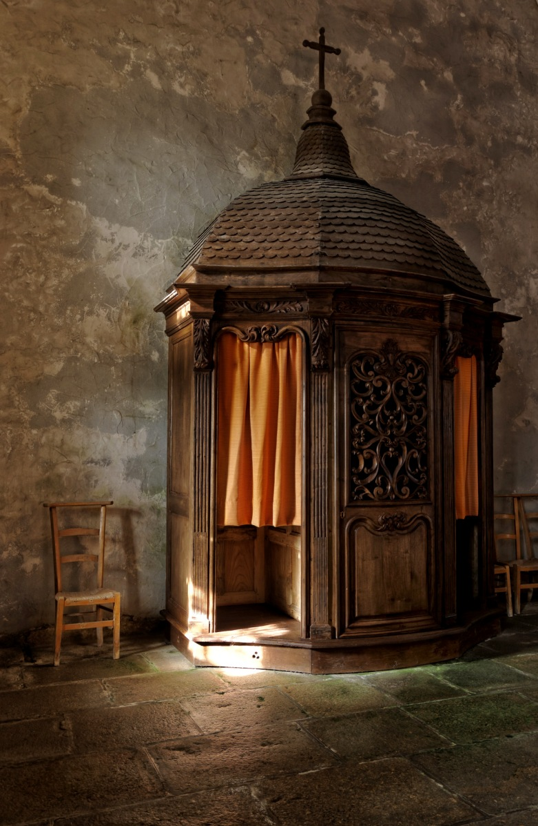 confessionnal, Commana, église, bretagne, finistère