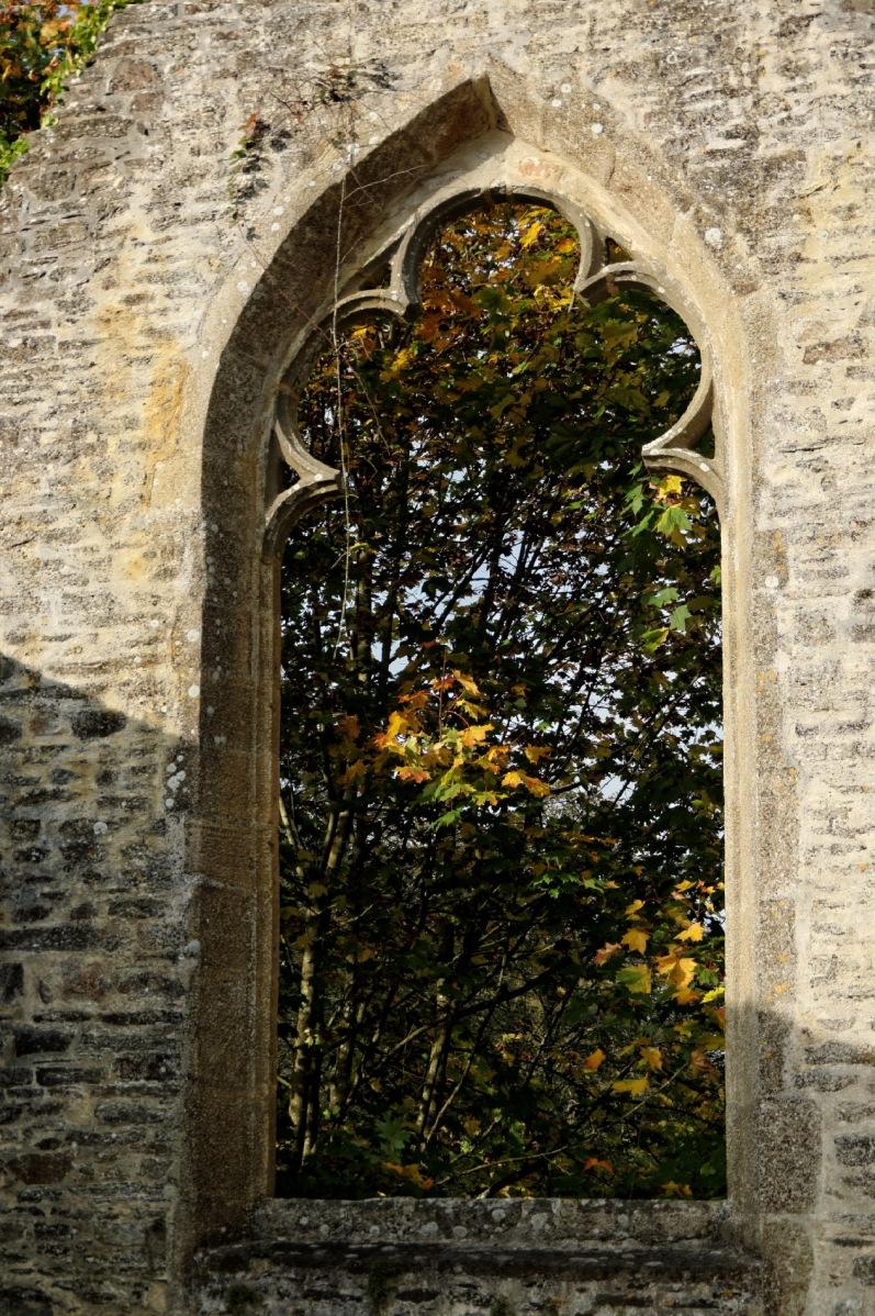 pose longue, pont, Pont-Christ, chapelle, chapelle Pont-Christ, La Roche Maurice, automne, architecture