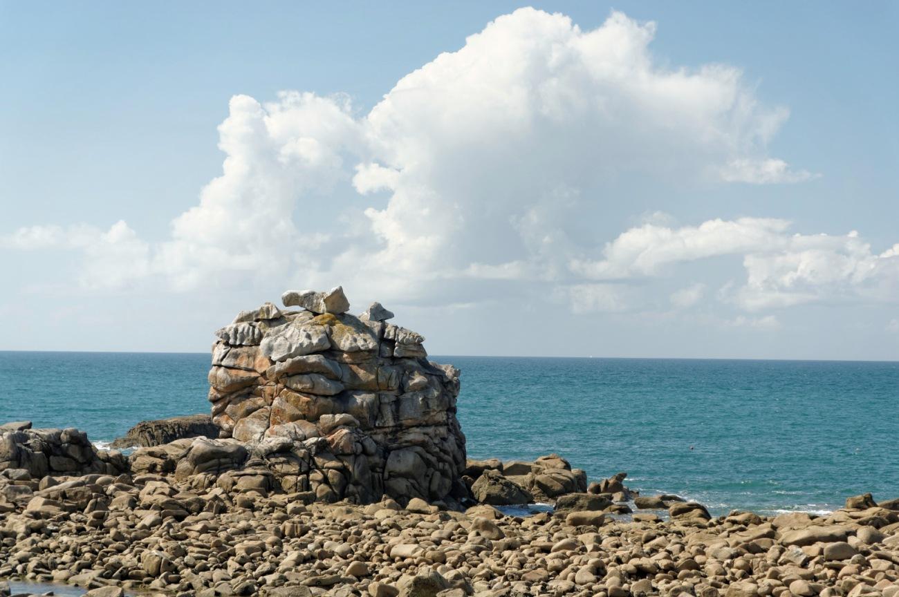 Plouescat, roc'h ar c'hi, bretagne, finistère, rochers