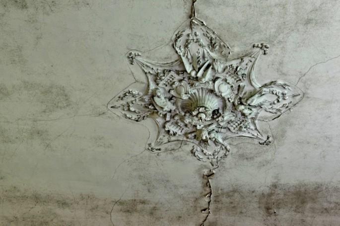 château d'Ah, plafond salon