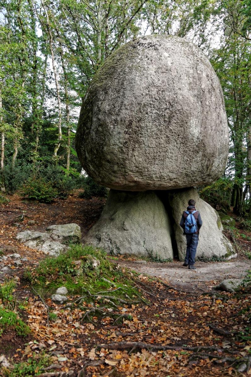 Huelgoat, champignon géant, rocher, finistère, rocher