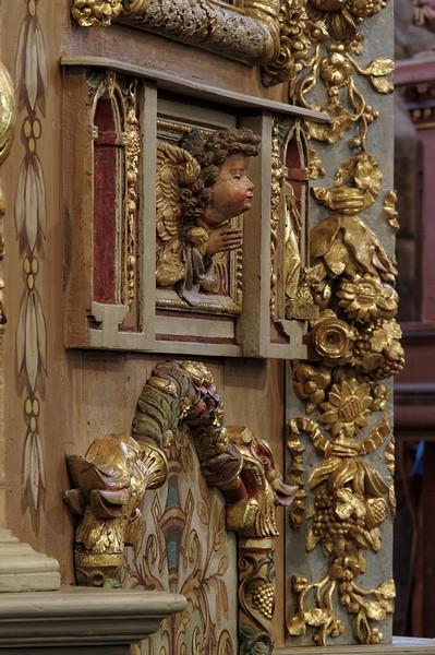 détail retable église notre dame de lampaul guimiliau