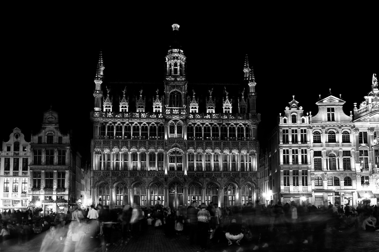Bruxelles, Belgique, Grand-Place, Bruxelles de nuit, maison du Roi
