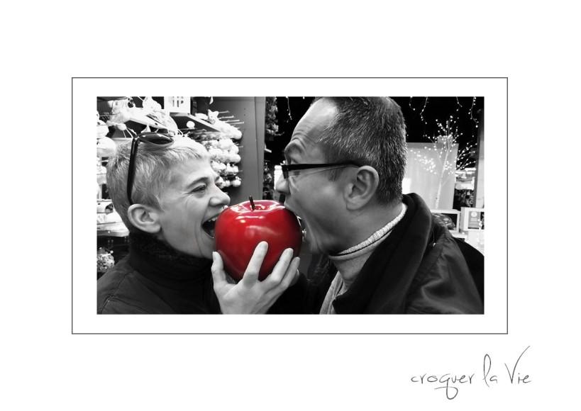 papa maman et la pomme
