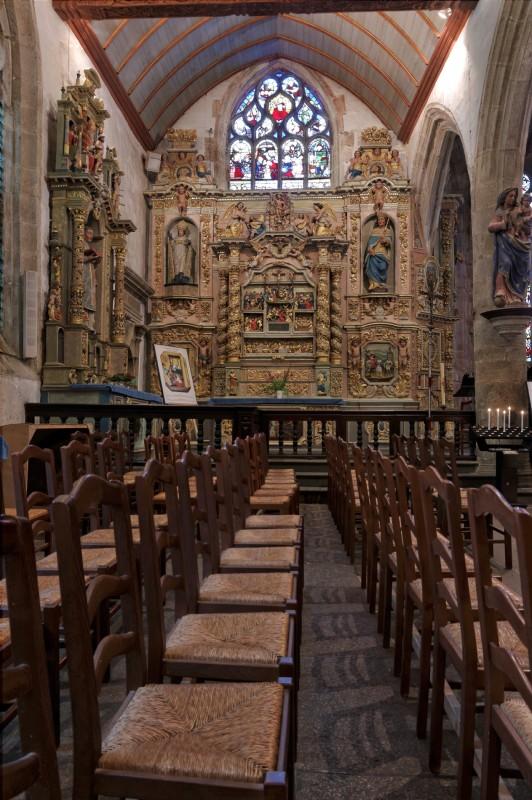 retable église Notre Dame à Lampaul Guimiliau
