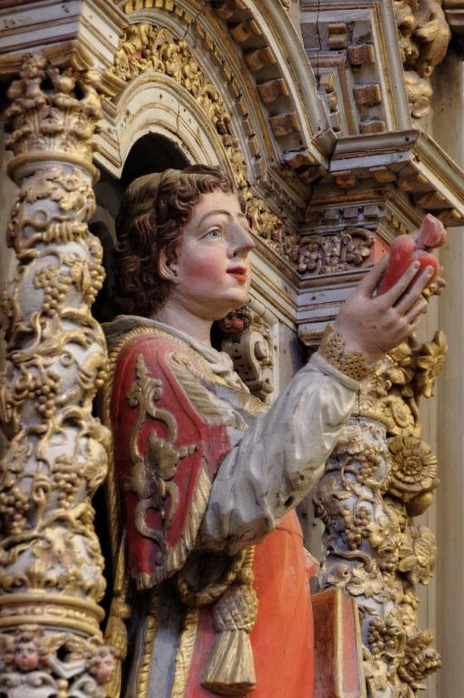 Le retable de Saint-Laurent - détail -  église Notre Dame Lampaul Guimiliau