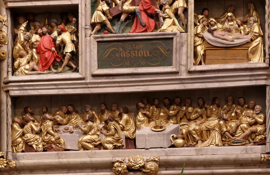 Le retable de la Passion (XVIIème siècle) église Notre Dame Lampaul Guimiliau