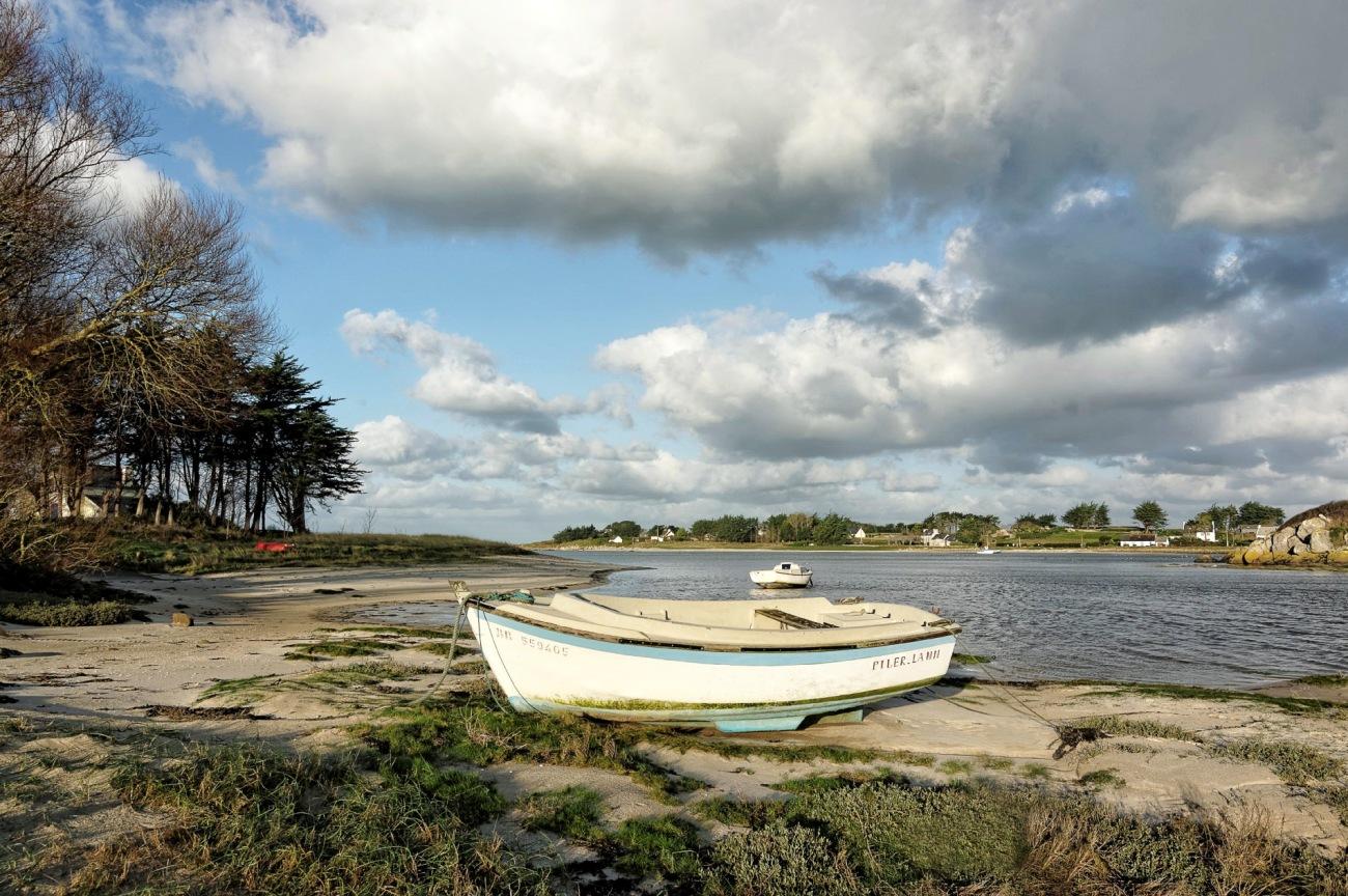 Piler Lann, bateau, baie de Guissény, Guissény, finistère, bretagne