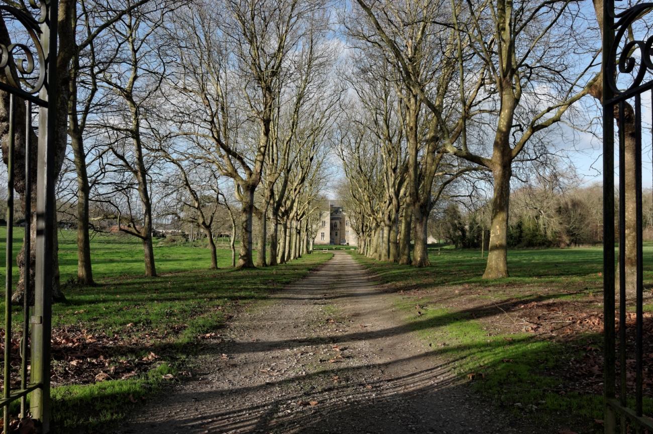 château de Kérouzéré, Sibiril, Finistère, Bretagne, parc du château de Kérouzéré