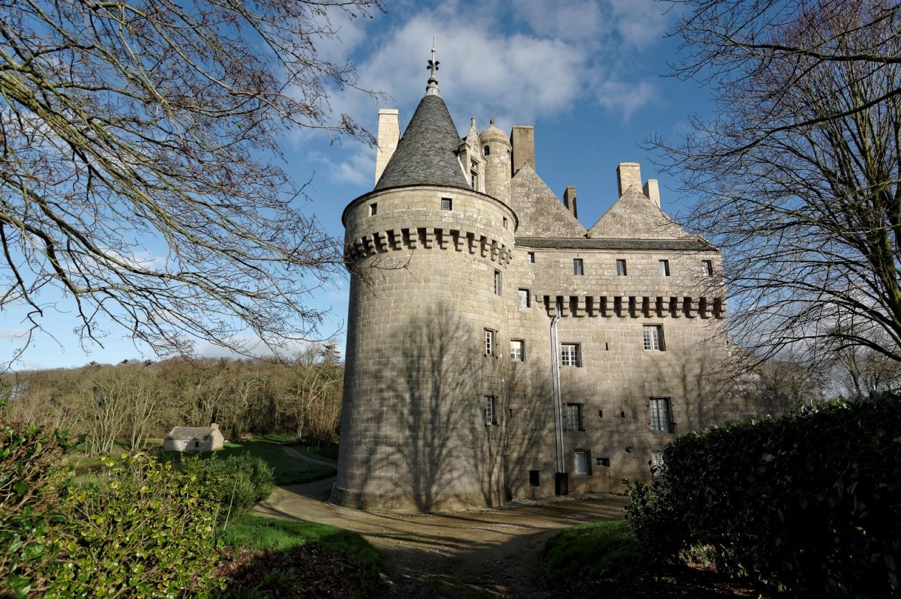 château de Kérouzéré, Sibiril, Finistère, Bretagne, façade ouest