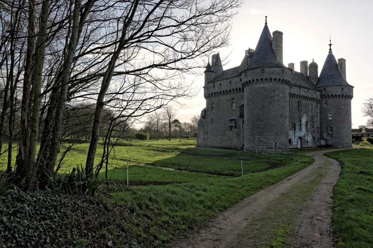 château de Kérouzéré, Sibiril, Finistère, Bretagne, façade nord-est