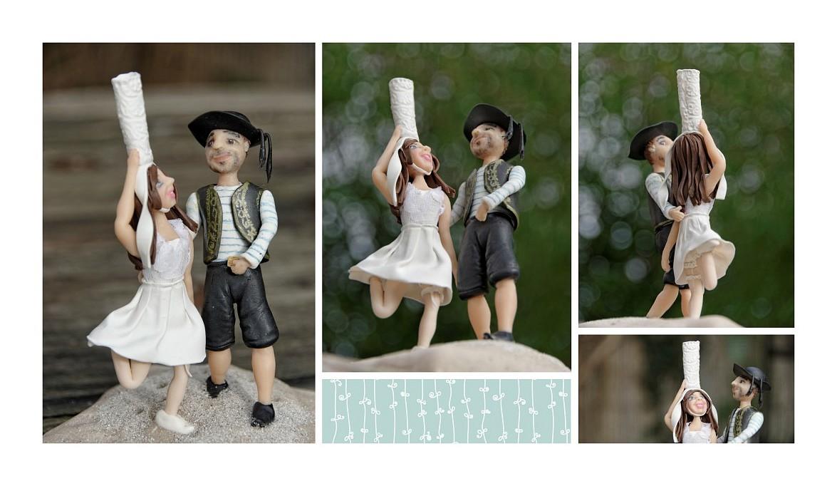 montage couple mariés bretons, porcelaine froide, PAM, porcelana fria, mariés bretons en porcelaine froide