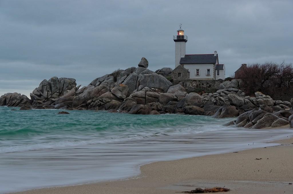 phare de Pontusval, Brignogan, Bretagne, finistère, pose longue