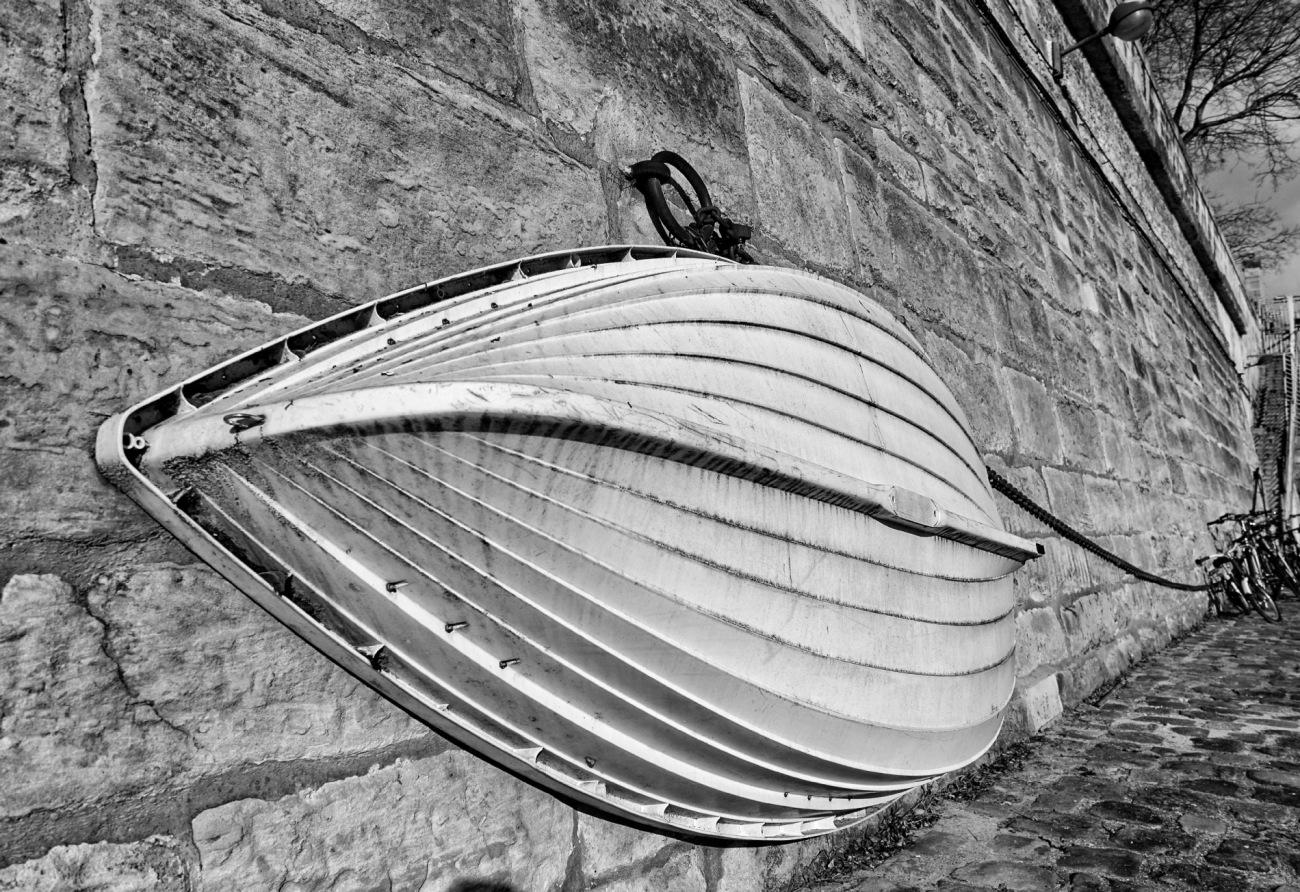 Paris IVe, Paris, port de l'Arsenal, barque, noir et blanc,  smc Pentax 12-24mmF4 ED AL[IF],