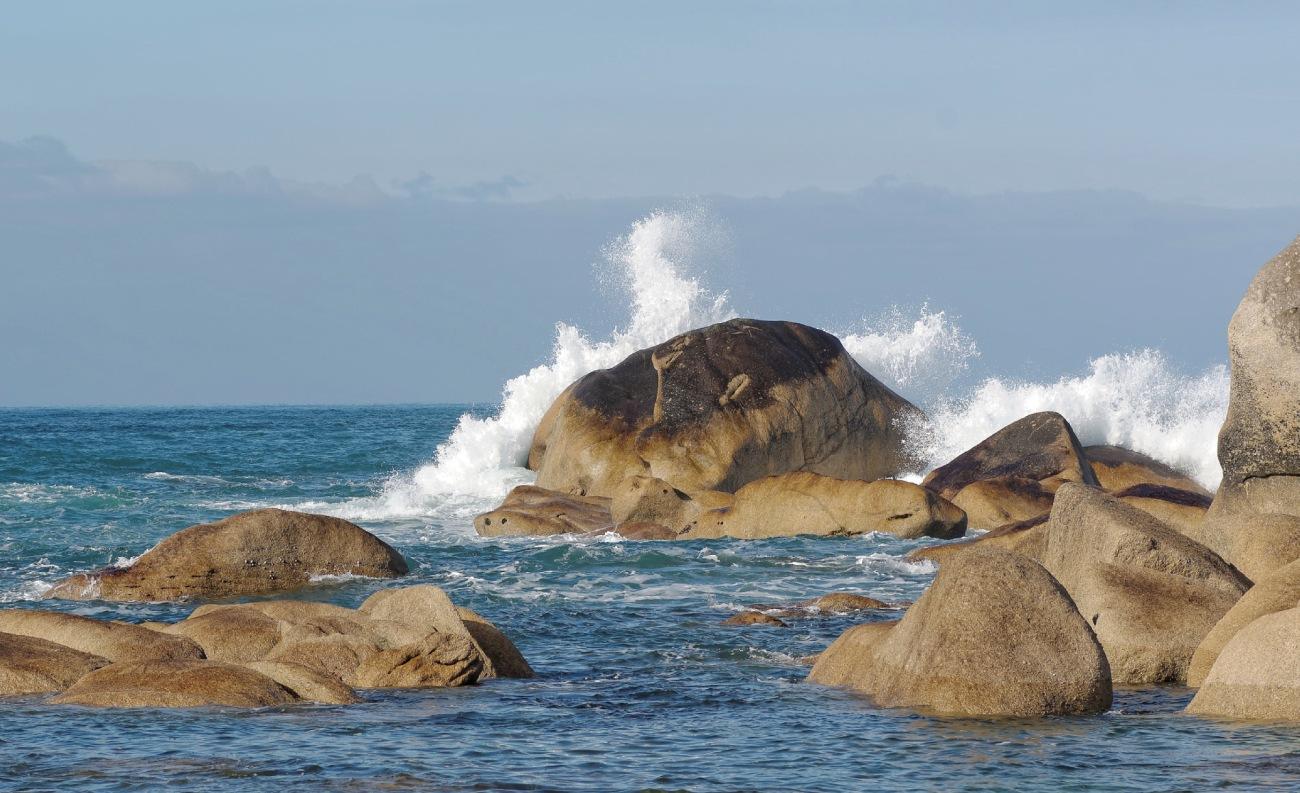 vagues, Manche, mer, finistère, Bretagne, rochers, Pontusval