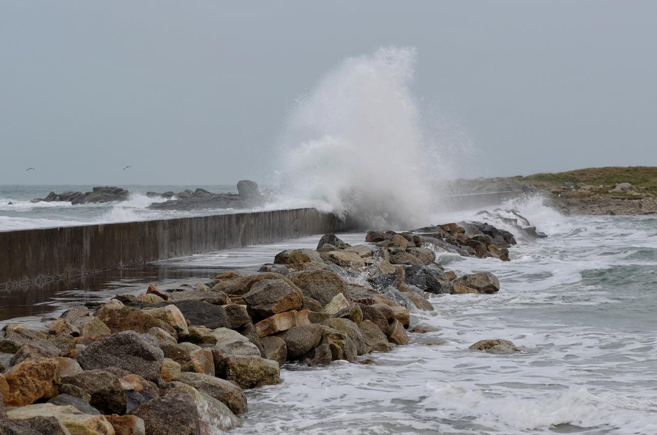 Vagues, grande marée, Le Curnic, Guissény, finsitère, bretagne