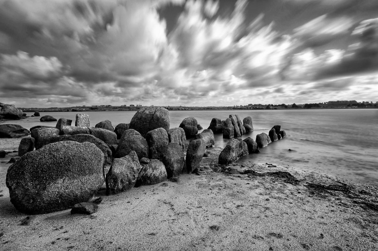 Allée couverte de Guirnivit, Plouescat, Finistère, Bretagne, site mégalithique,monument funéraire de l'époque néolithique