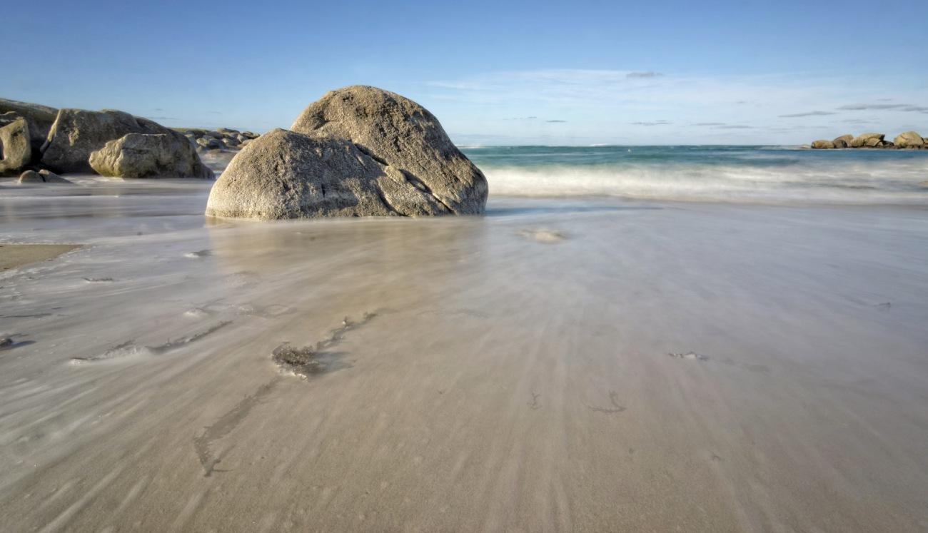 Niez Vran, île aux Vaches, Kerlouan, Finistère, Bretagne, pose longue, rochers, plage