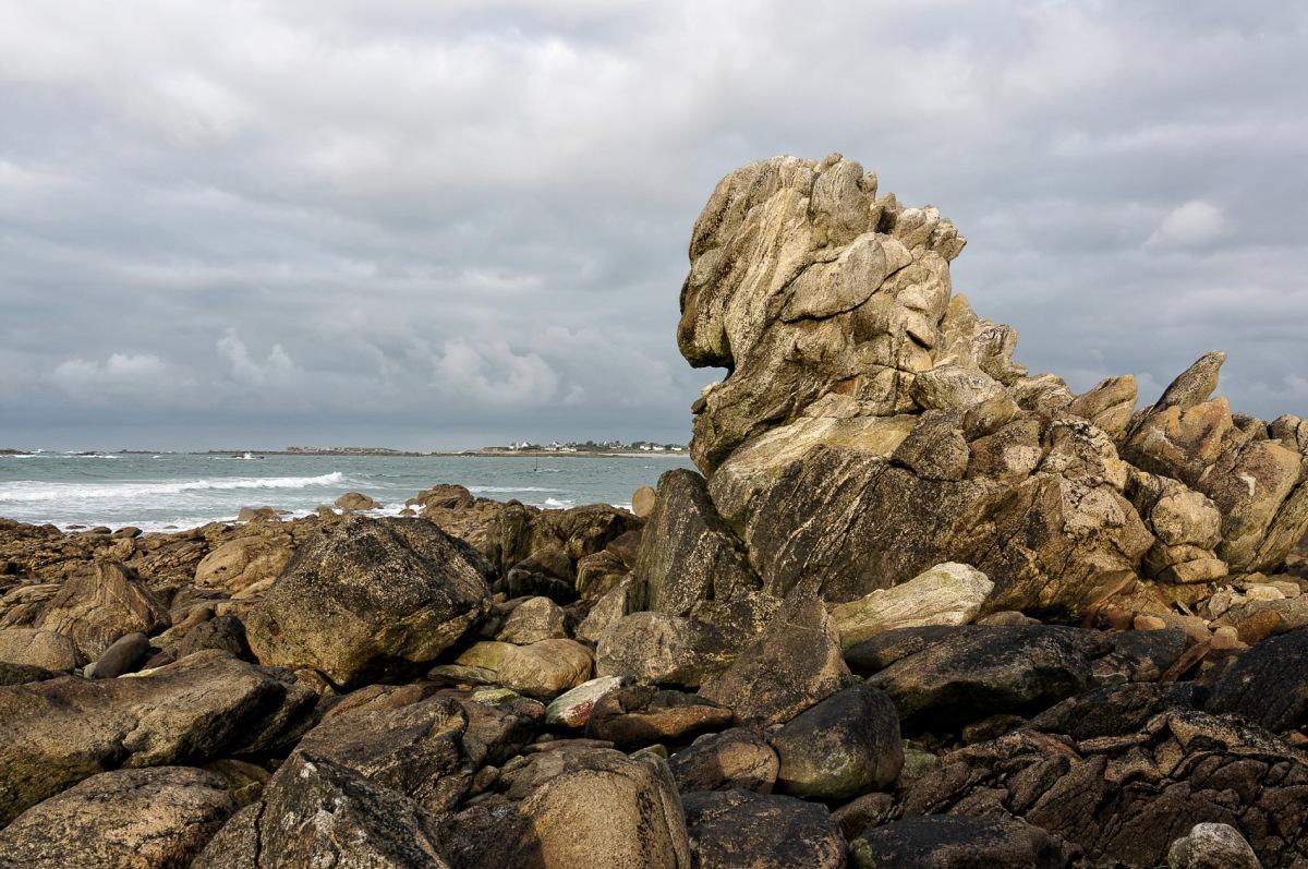 rochers, Le Curnic, Guissény, bretagne, finistère