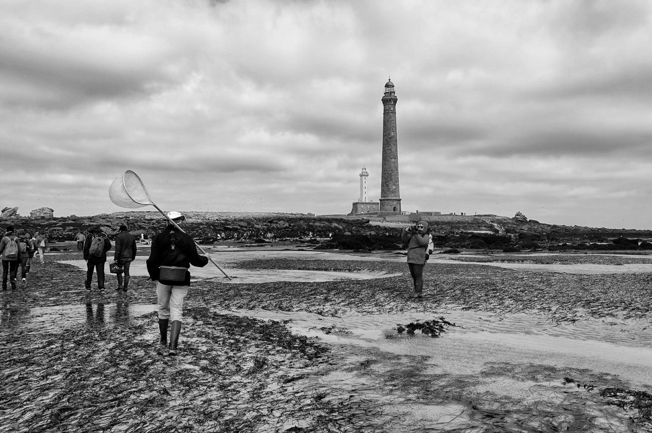 aller à l'île Vierge à pieds, phare de l'île Vierge, grande marée,  marée du siècle, coefficient 119
