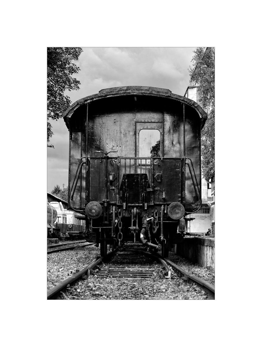 train ancien - noir et blanc