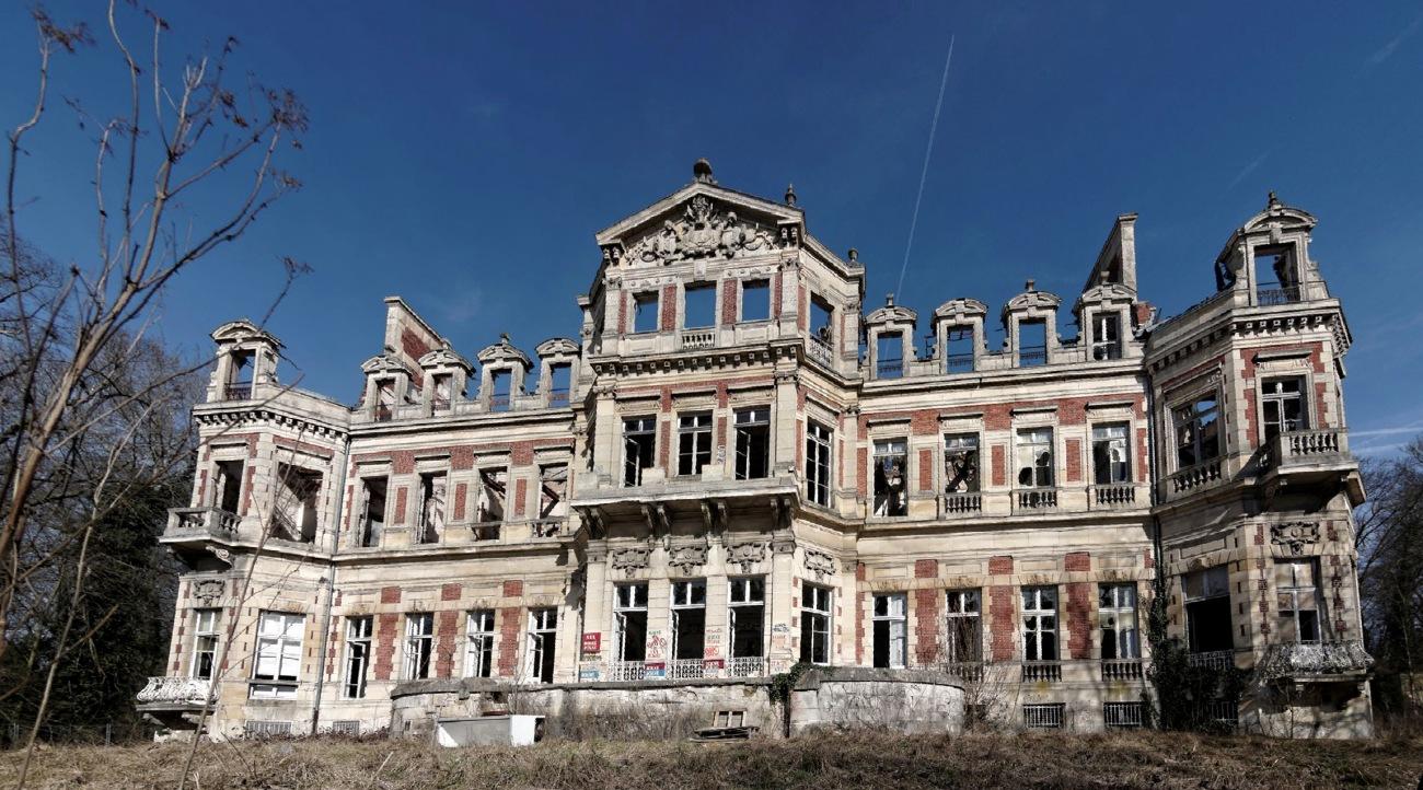 Urbex - façade arrière côté jardin, château Fruminet