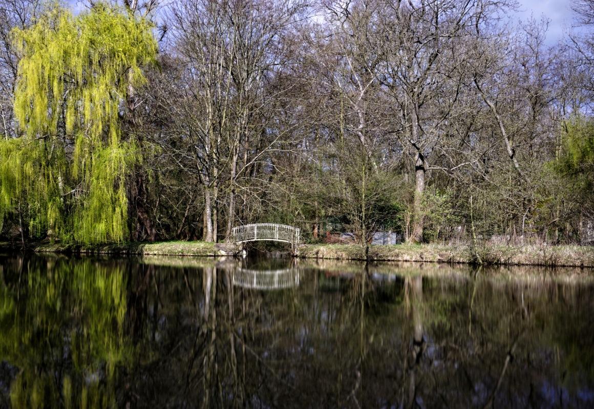 petit pont, reflets, pose longue, au fil de l'eau