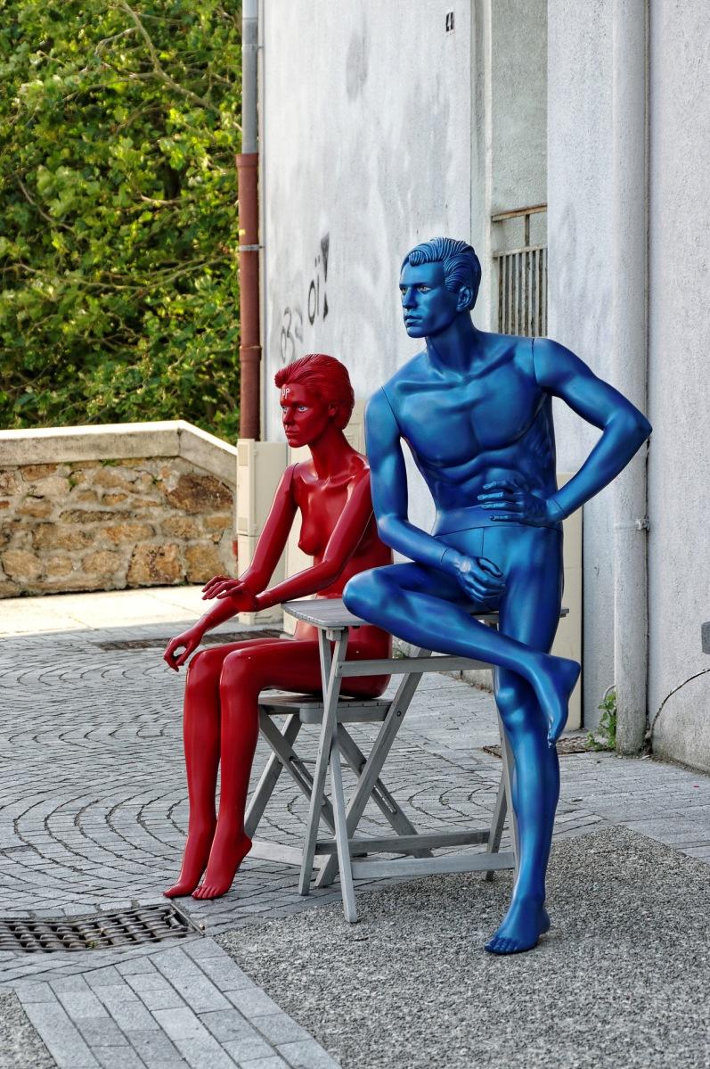Brest, Finistère, Bretagne, mannequins, quartier Recouvrance