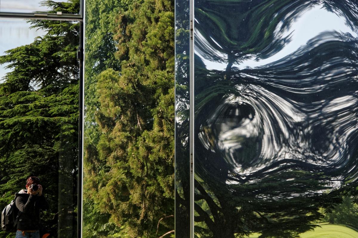 façade en glace, architecture, parc de Rentilly, reflets