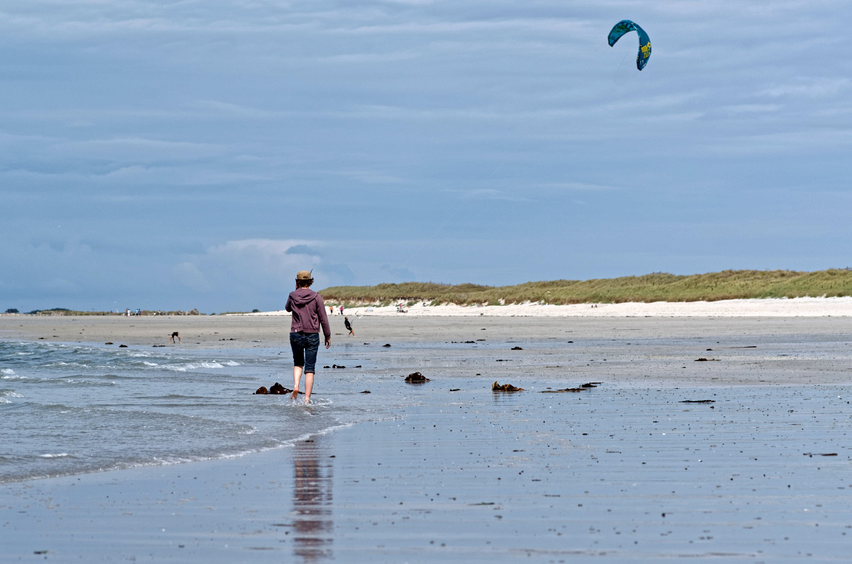 balade sur la plage, Vougot, finistère, bretagne