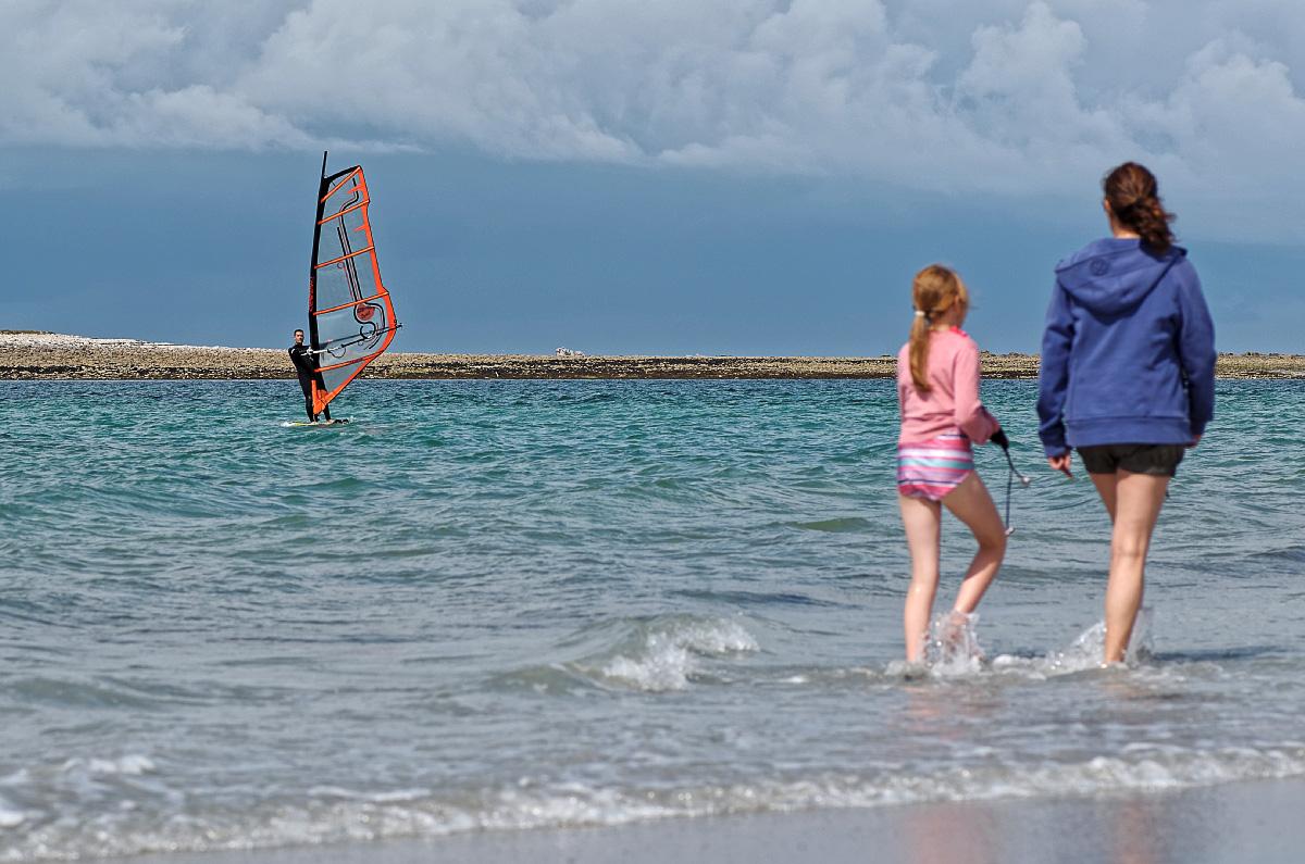 balade sur la plage, Vougot, finistère, bretagne, planche à voile