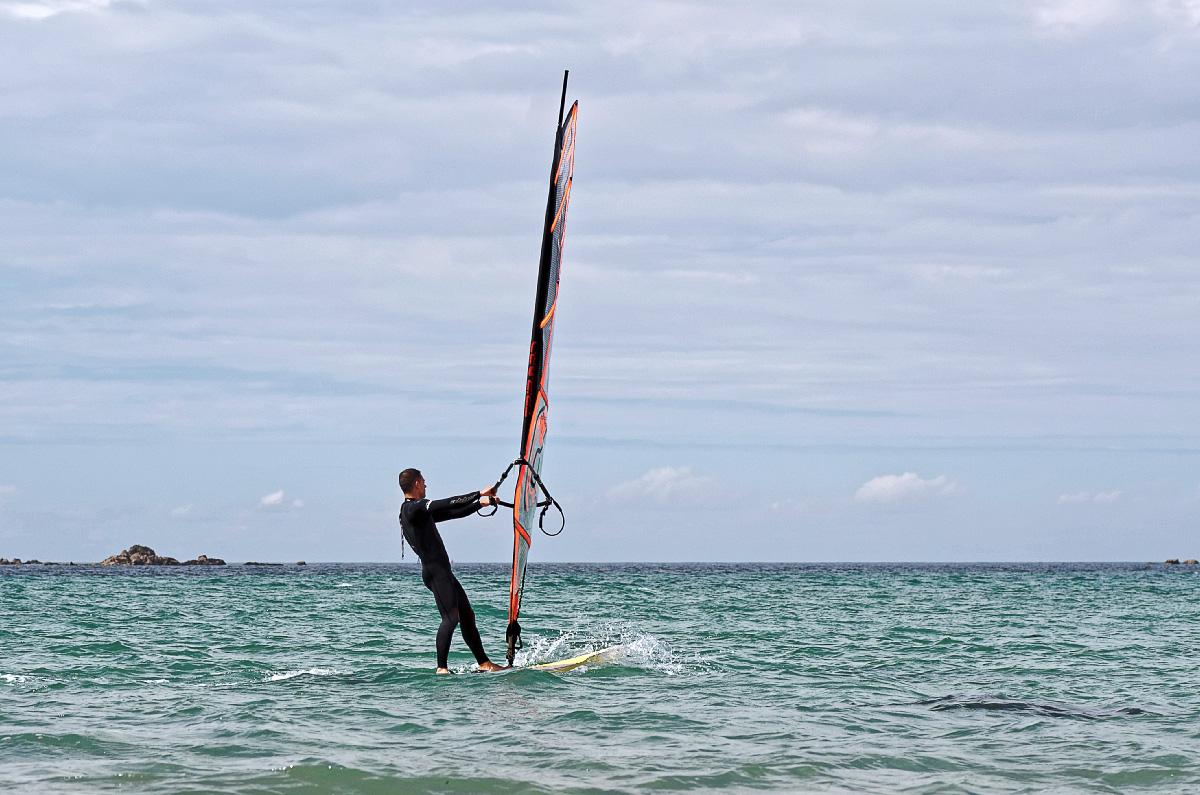planche à voile, Vougot, activité nautique, bretagne, finistère