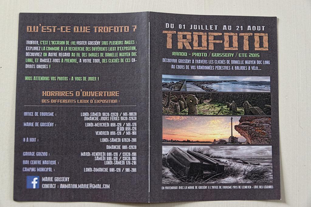 """expo photos """"trofoto"""" Guissény, dépliant"""
