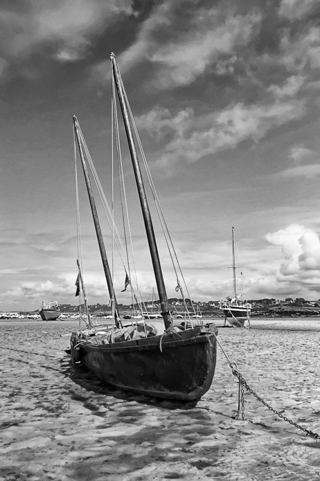 Brioc, curragh, port de Korejou, Plouguerneau, bretagne, finistère, bateau