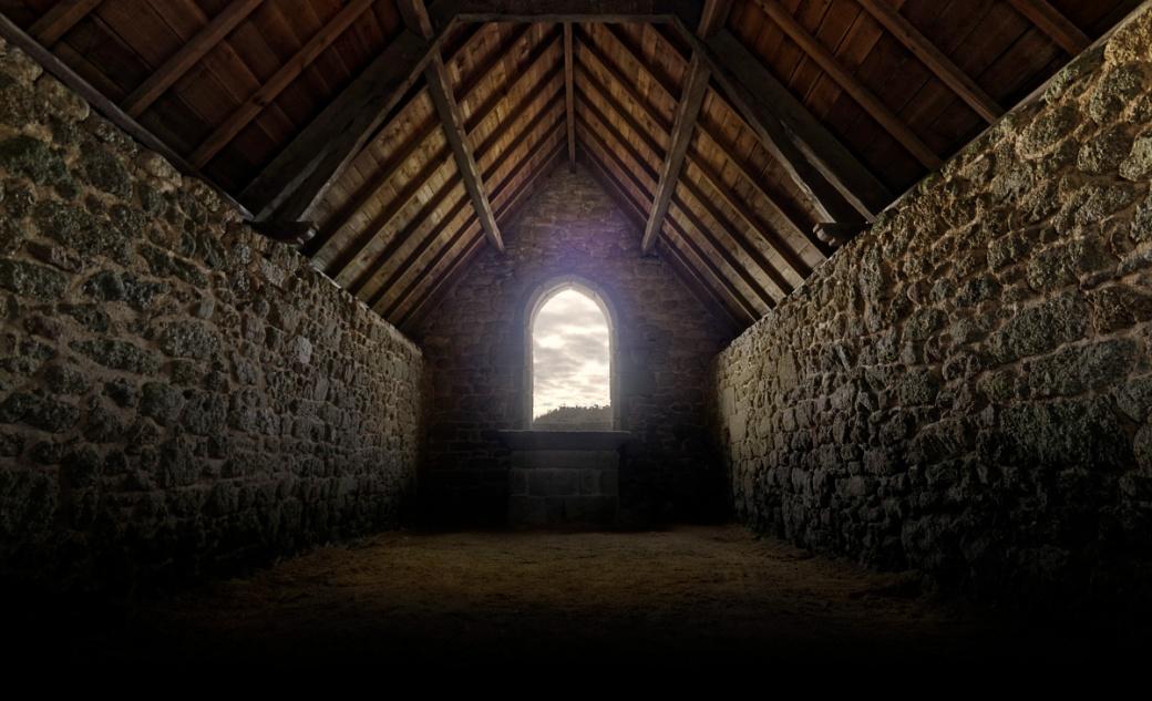 chapelle Gwenal, intérieur Chapelle Gwenal, architecture, Kerloua, Bretagne, Finistère