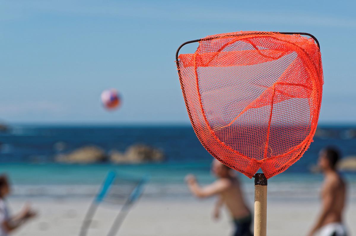 filet de plage, jeux de plage, plage, Kerlouan, Finistère, Bretagne